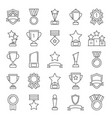 mono line pictures set of cups and trophies vector image vector image