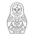 nesting doll icon outline style vector image vector image