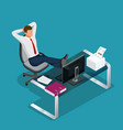 office employee is resting flat 3d vector image vector image