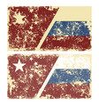 old scratched flags vector image vector image