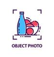 original linear emblem for photo studio vector image
