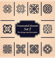 Ornamental elements set template for design and vector image