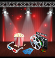 realistic cinema background vector image vector image