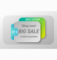 sale web banner concept vector image