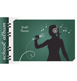school album singing vector image vector image