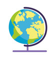 school globe map isolated icon design vector image