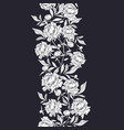 seamless vertical garlands with white peonies vector image vector image
