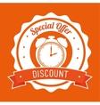 special offer discount orange stamp banner vector image