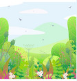 square floral border and spring landscape vector image vector image
