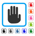 stop hand framed icon vector image vector image