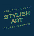 stylish art typeface retro font isolated english vector image vector image