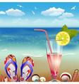 Summer Vacation Backdrop vector image