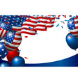 usa or american flag and balloon vector image