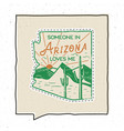 vintage adventure arizona badge vector image vector image