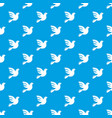 white peace pigeon pattern seamless blue vector image