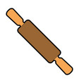wooden roller isolated icon vector image vector image