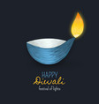 happy diwali indian diya festival of lights vector image