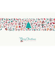 christmas and new year hand drawn icon pattern vector image