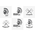 Set of american indian emblems labels badges vector image