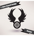 T-Shirt Stencil Design Template for your design vector image
