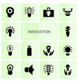 14 innovation icons vector image vector image