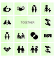 14 together icons vector image vector image