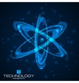 Abstract atom model vector image vector image