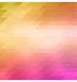 abstract mosaic background of colored triangles vector image