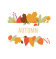 autumn design in autumn composition vector image vector image