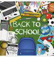 back to school concept template design vector image vector image