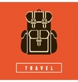 Backpack icon in flat style vector image