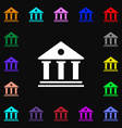 bank icon sign Lots of colorful symbols for your vector image vector image