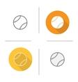 Baseball ball icons vector image vector image