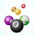Billiard Balls Background vector image vector image