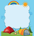 blank banner with camping theme vector image vector image