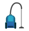 blue vacuum cleaner icon cartoon style vector image