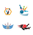 bowling icon template vector image vector image