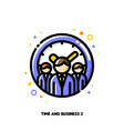 business persons for work time efficiency icon vector image vector image