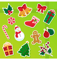 christmas icons vector image vector image