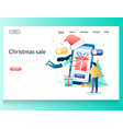 christmas sale website landing page design vector image
