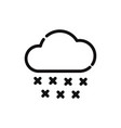 cloud with rain drop icon vector image vector image