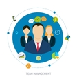 Concept of management vector image