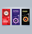 coronavirus financial crisis economic stock market vector image vector image