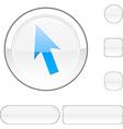 Cursor white button vector image