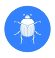 Dor-beetle icon in black style isolated on white vector image