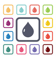 drop flat icons set vector image vector image