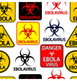 Ebola danger signs seamless pattern vector image