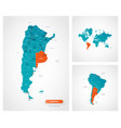 editable template map argentina with marks vector image vector image