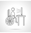 Education for disabilities flat line icon