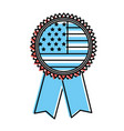 emblem with flag of usa inside vector image vector image